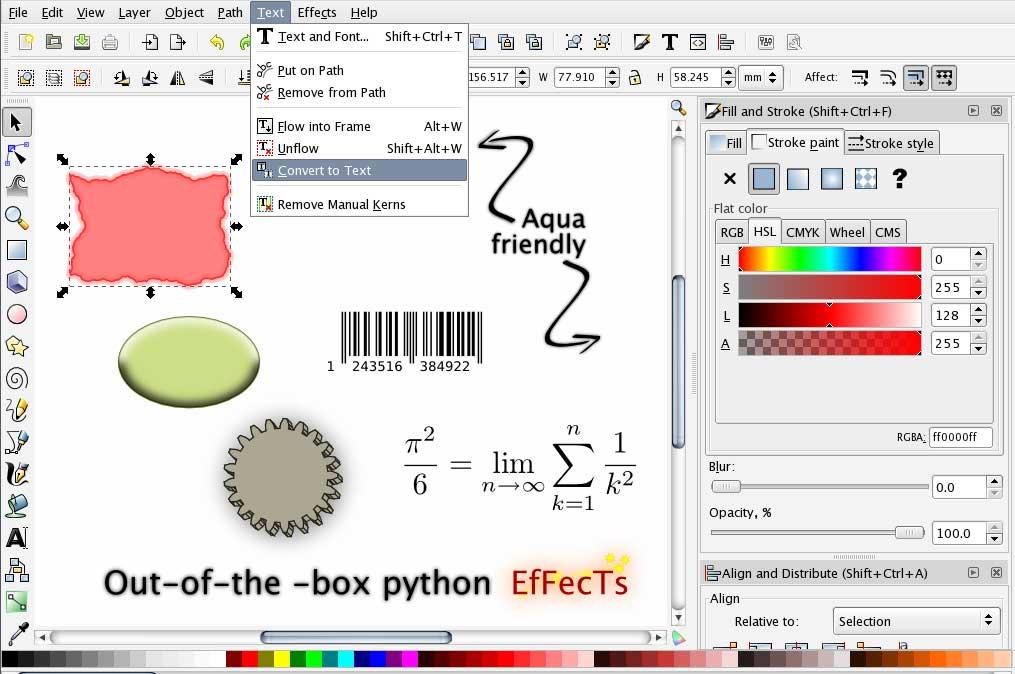 Как в inkscape сделать фон